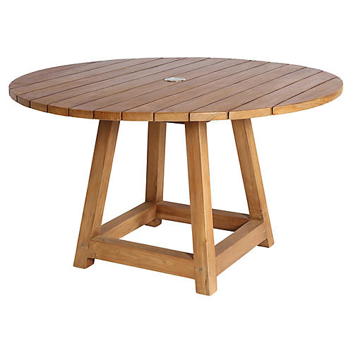 """George 47"""" Dining Table, Natural"""