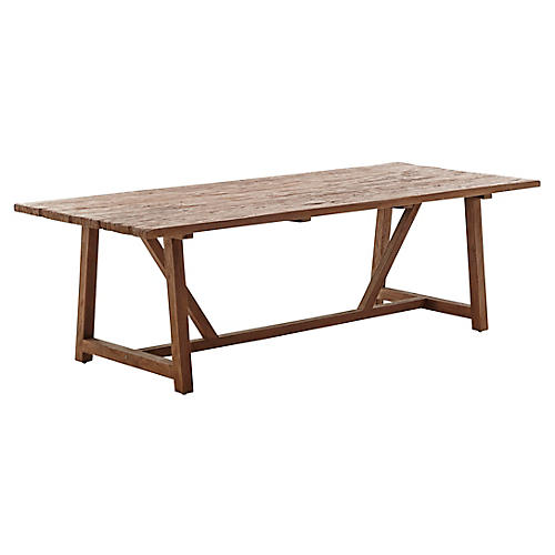 "Lucas 95"" Dining Table, Natural"