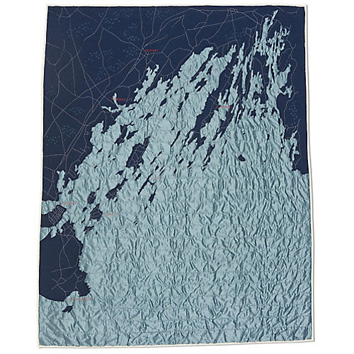 Casco Bay Cotton Quilt, Navy