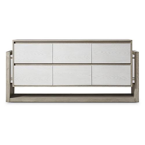 Newman 6-Drawer Dresser, Gray
