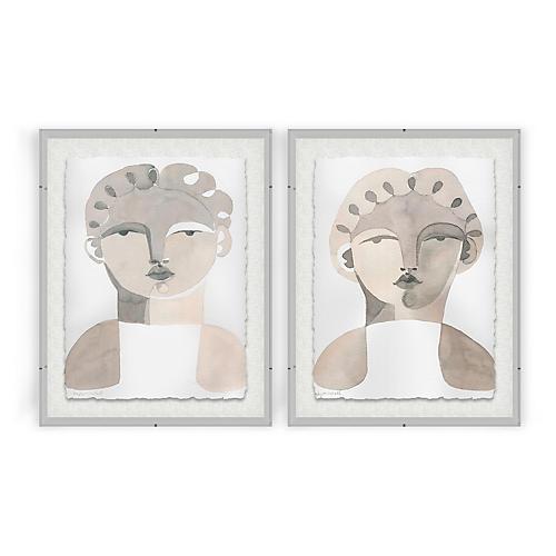 Sabinien & Yves Acrylic Box Painting