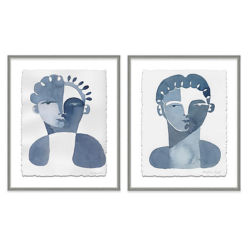 Hayley Mitchell, Claudine & Perette Diptych