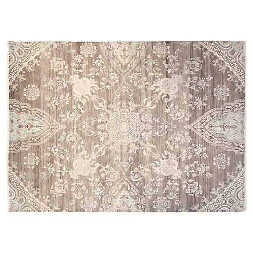 9'x12' Sari Wool Grace Rug, Gray/Multi