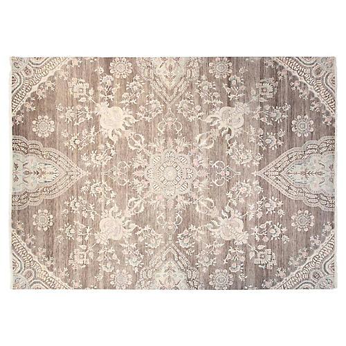 9'x12' Sari Wool Grace Rug, Gray/Multi