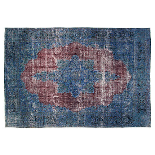 "10'x14'6"" Shera Rug, Red/Blue"
