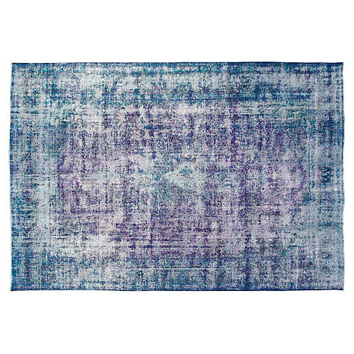 "9'6""x12'6"" Erica Rug, Purple/Teal"