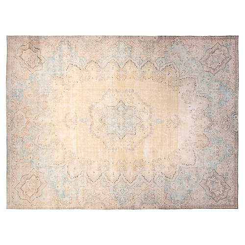 "9'6""x12'6"" Malorry Rug, Yellow/Sky Blue"