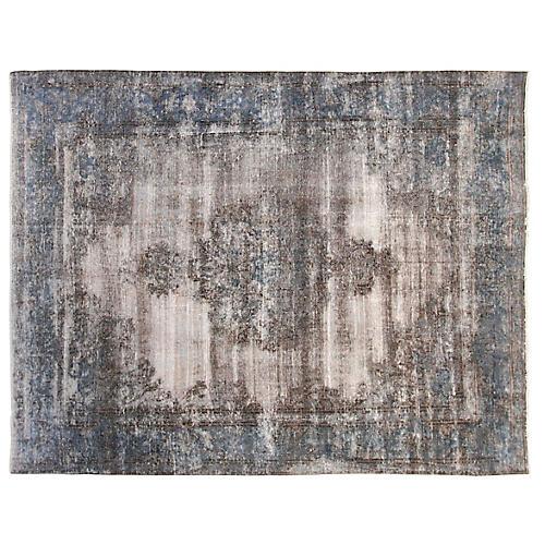 7'x9' Ariel Rug, Ivory/Blue
