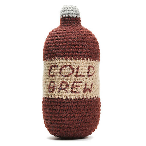 Cold Brew Dog Toy, Brown