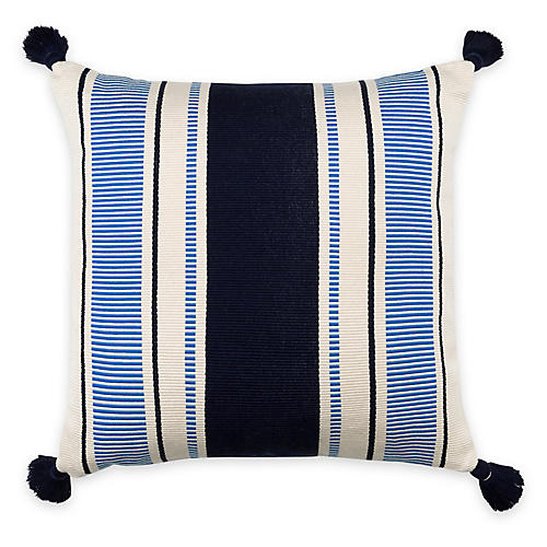 Cabana Stripe 20x20 Pillow, Navy