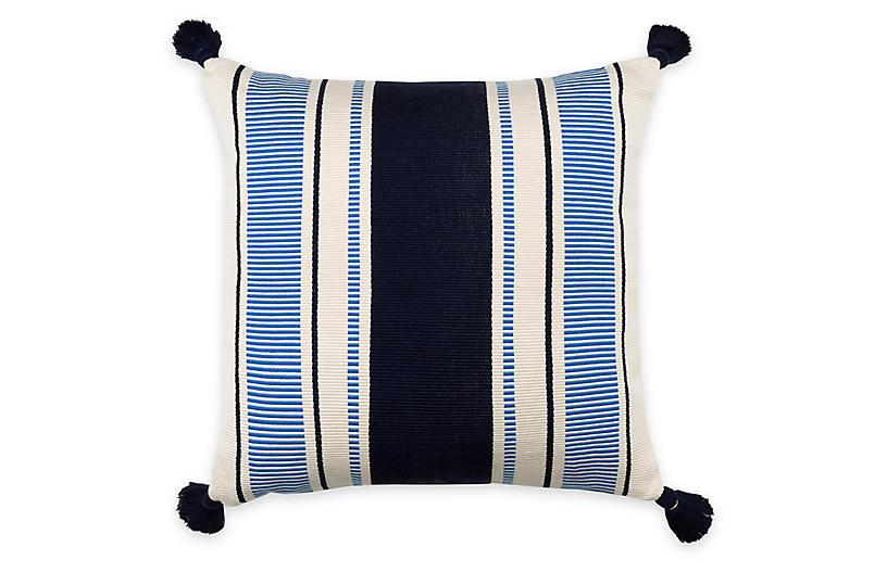 Cabana Stripe 20x20 Pillow, Navy