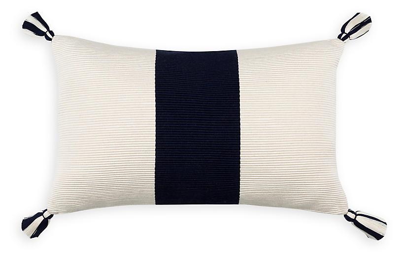 Laguna Stripe 14x20 Pillow, Navy