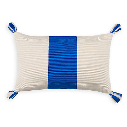 Laguna Stripe 14x20 Pillow, Cobalt