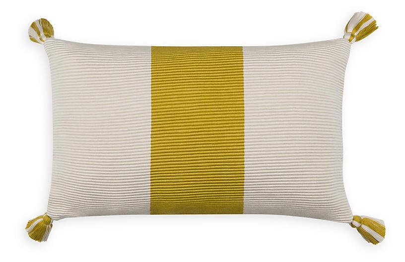 Laguna Stripe 14x20 Pillow, Citrus