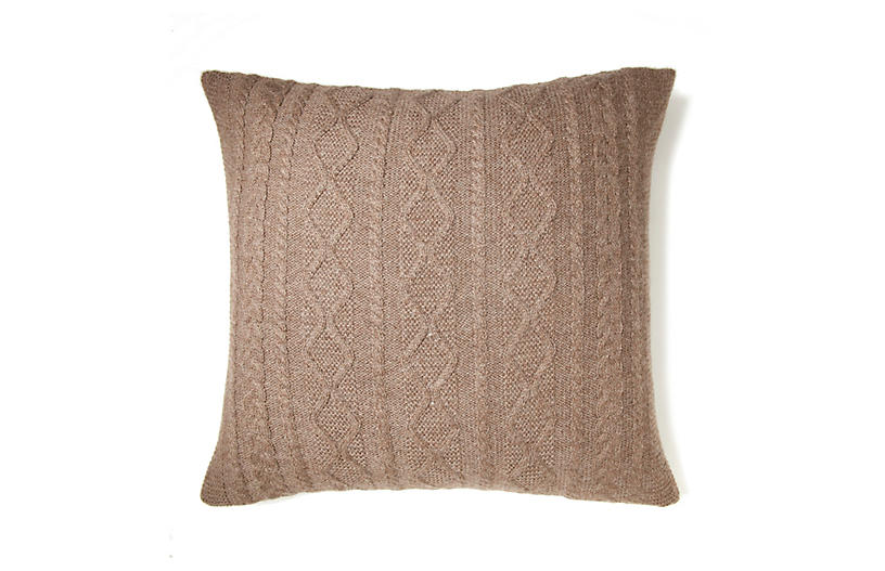 Howard 20x20 Pillow, Fawn Taupe
