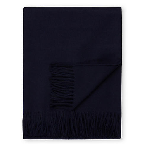 Madison Alpaca Throw, Navy