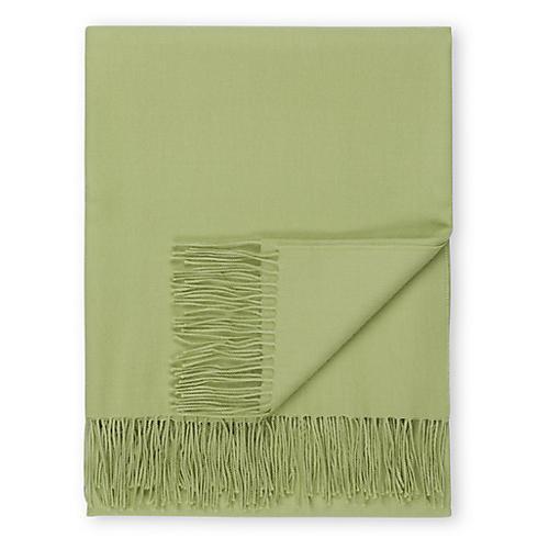 Madison Alpaca Throw, Mint Green