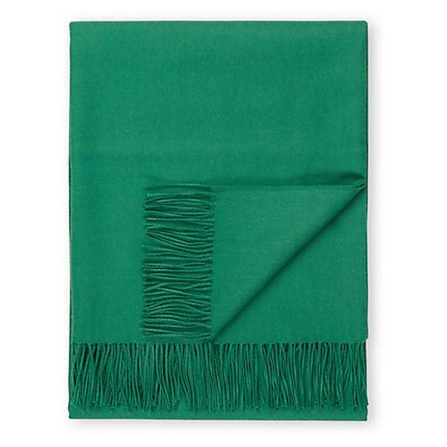 Madison Alpaca Throw, Emerald