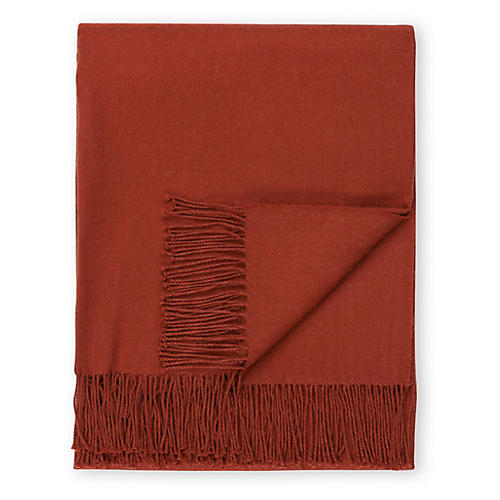 Madison Alpaca Throw, Spice