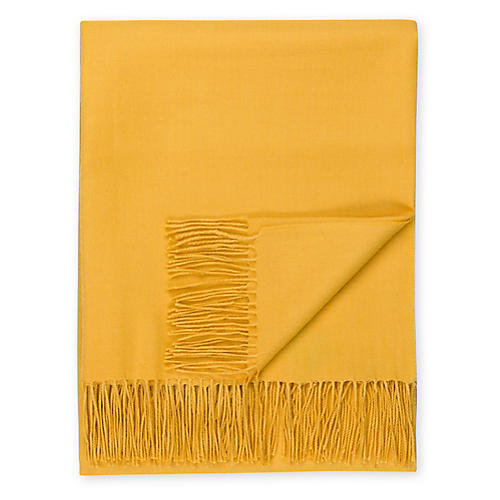 Madison Alpaca Throw, Golden Yellow