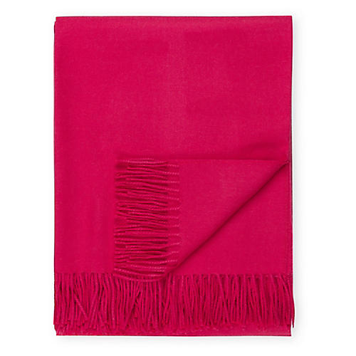 Madison Alpaca Throw, Bright Rose