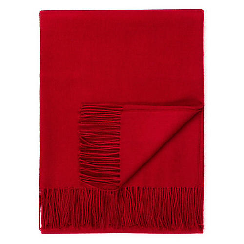 Madison Alpaca Throw, Garnet Red