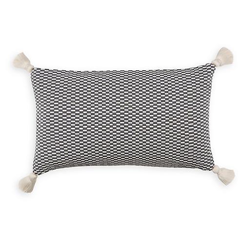 Ella 12x20 Lumbar Pillow, Gray/Natural