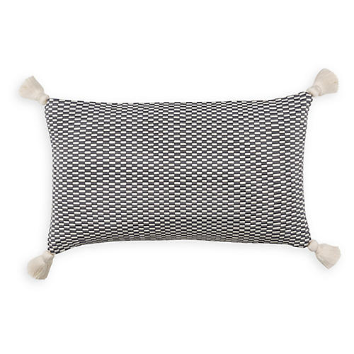 Ella 12x20 Lumbar Pillow, Gray/Natural