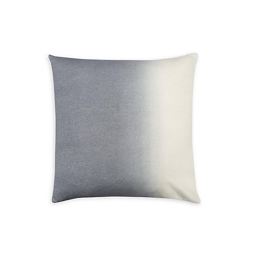 Dip-Dye 24x24 Pillow, Light Gray