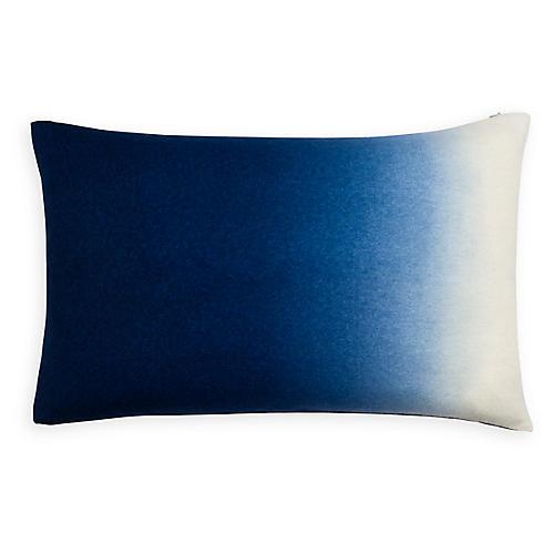 Dip-Dyed 14x22 Lumbar Pillow, Indigo