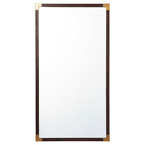 Bellelax Floor Mirror, Brown/Gold