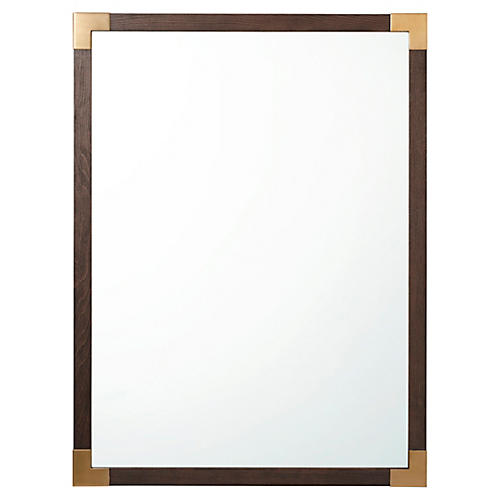 Luxe Wall Mirror, Brown/Gold