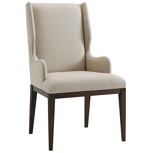 S/2 Kingsley Armchairs, Cream