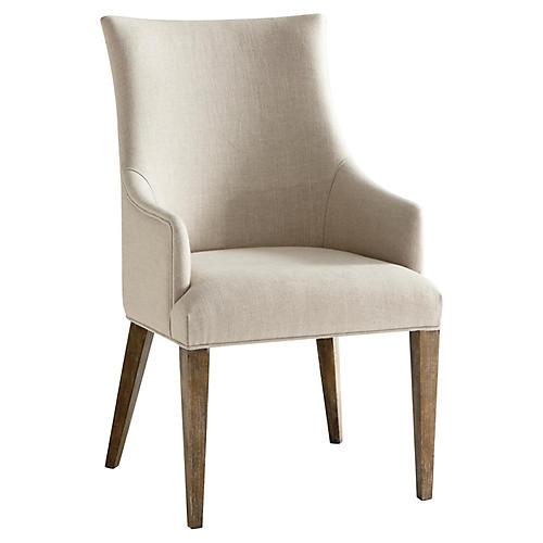 S/2 Adele Armchairs, Cream