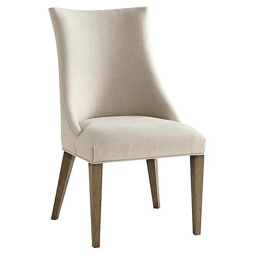 S/2 Adele Side Chairs, Cream
