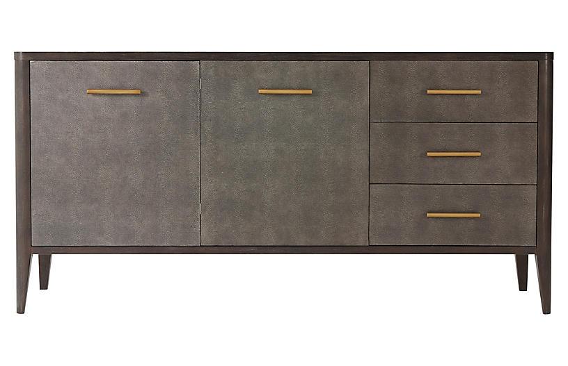 Shelton Faux-Shagreen Sideboard, Java