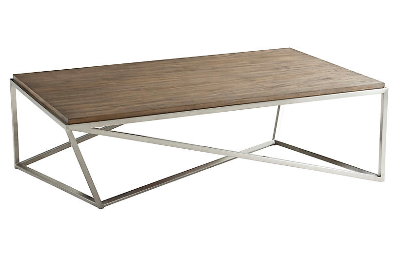 Crazy X Coffee Table, Natural