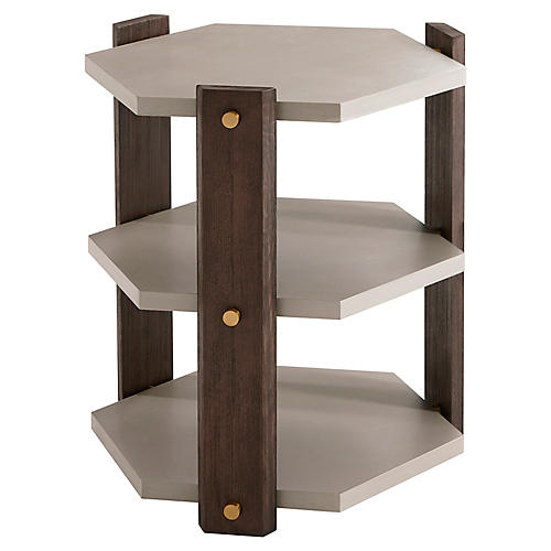 Theory Side Table, Cardamon