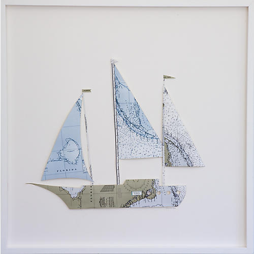 Dawn Wolfe, Florida Map Sailboat