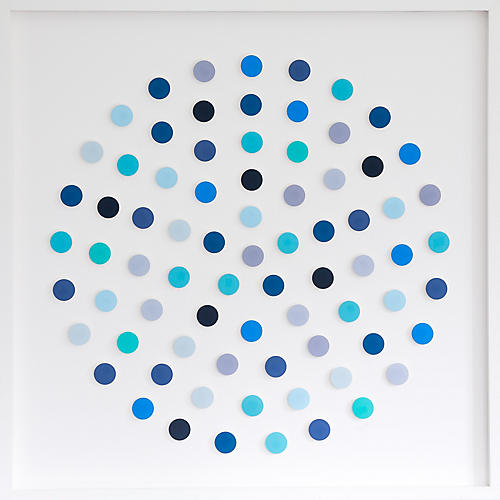 Dawn Wolfe, Blue Dot Circle Collage