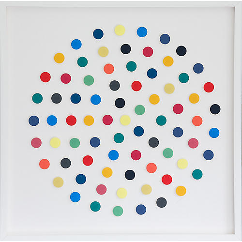 Dawn Wolfe, Rainbow Dot Collage
