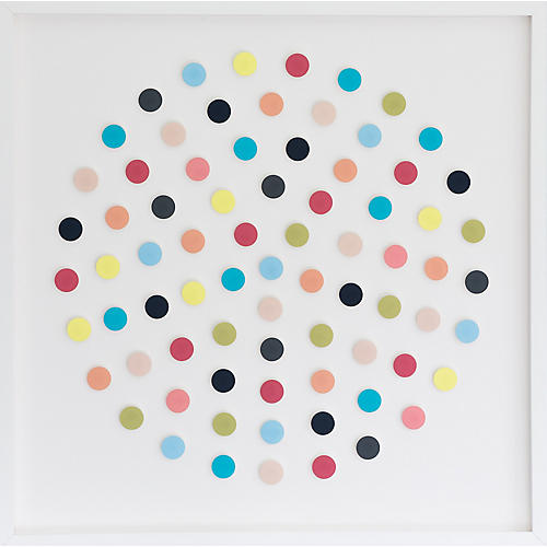 Dawn Wolfe, Pastel Circle Dot Collage