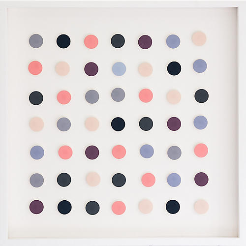 Dawn Wolfe, Pink & Navy Dot Collage