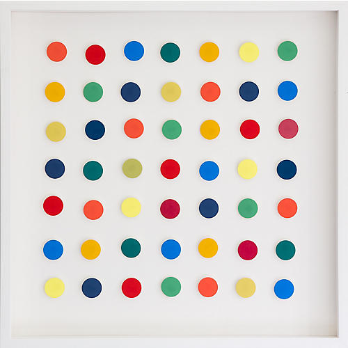 Dawn Wolfe, Rainbow Square Dot Collage