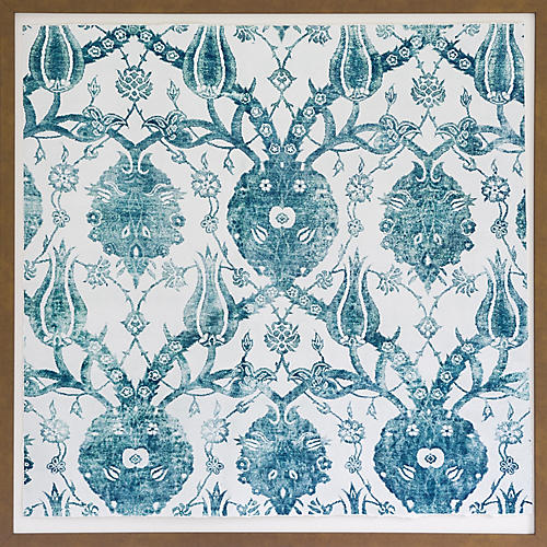 Dawn Wolfe, Turquoise Silk Rug