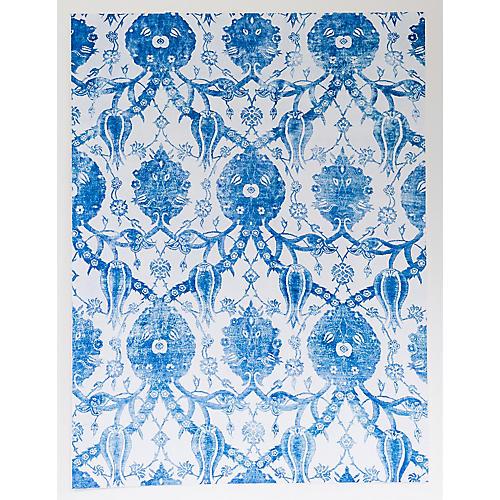 Dawn Wolfe, Blue Tulip Silk Rug