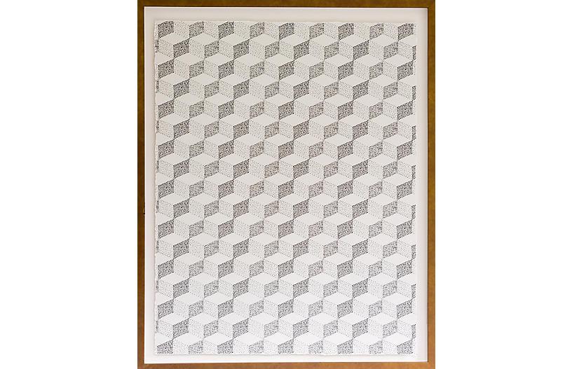 Dawn Wolfe - Pointillism Pattern - Dawn Wolfe Design - Cream