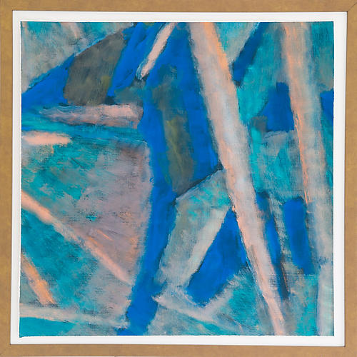 Dawn Wolfe, Cobalt Blue Cubist Abstract