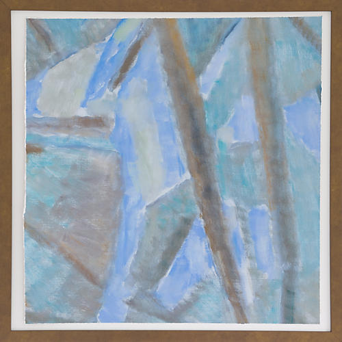 Dawn Wolfe, Pale Blue Cubist Abstract