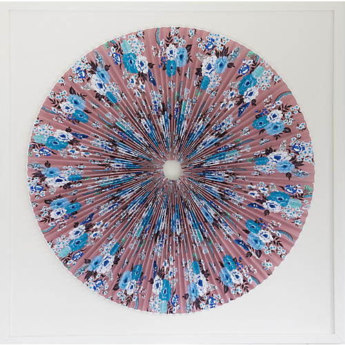 Dawn Wolfe, Pink Floral Fan Circle